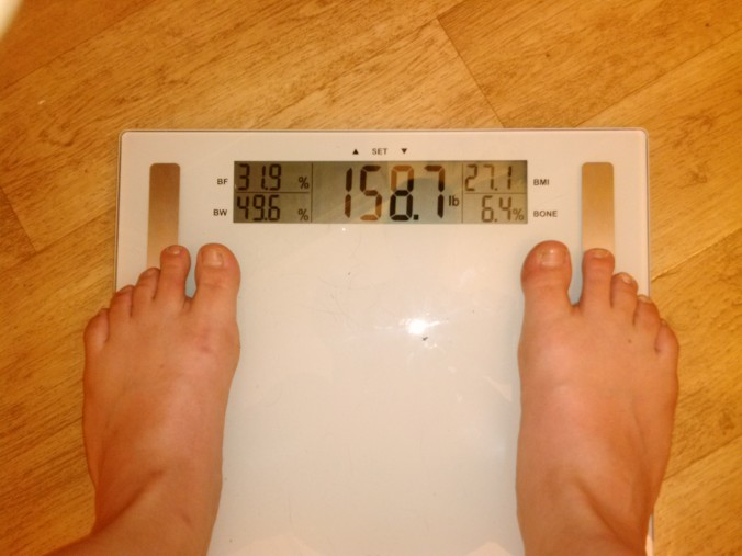 41 Scale June 9 158.7 lbs