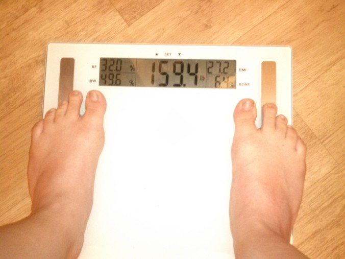 45 Scale July 8 159.4 lbs
